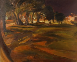 Night Path (Islington Park Plein Air at Night)