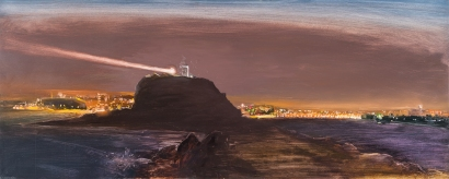 Newcastle 2014 Oil on Hardboard 82 X 204 cm