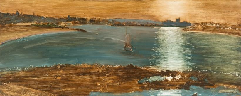 Lightfall 2014 Oil on Hardboard 82 X 204 cm