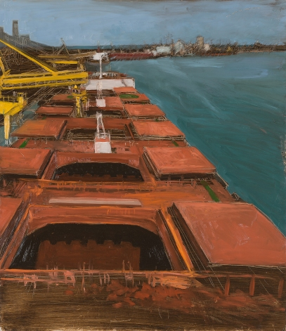 Loading Hatch 2 2014 Oil on Hardboard 106 X 124 cm