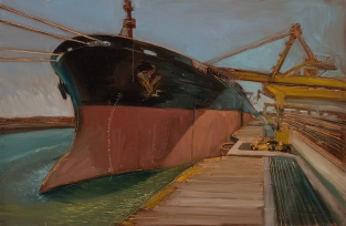 Loading the Merlin 2014 Oil on Hardboard 80 X 122 cm