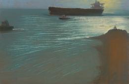 First Light 2014 Oil on Hardboard 51 X 78.5 cm