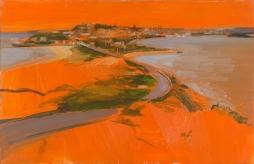 Orange Light 2014 Oil on Hardboard 510 X 78.5