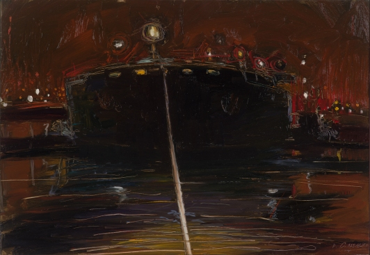 Night Exit 2016 Oil on Hardboard 51 x 60