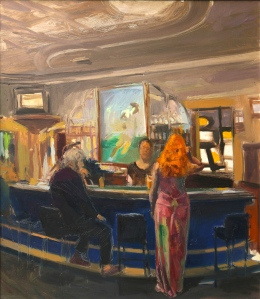 The Back Bar 2015 Oil on Hardboard 50.5 X 58 cm