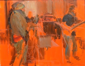 The Jam 2015 Oil on Hardboard 65 x 84 cm